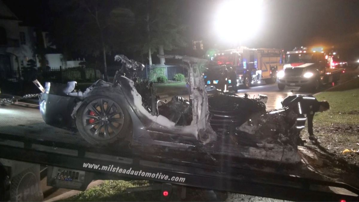 Tesla accidente